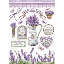 Stamperia riisipaperi Lavender