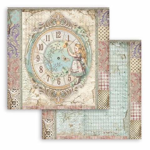 Stamperia Alice skräppipaperi Clock