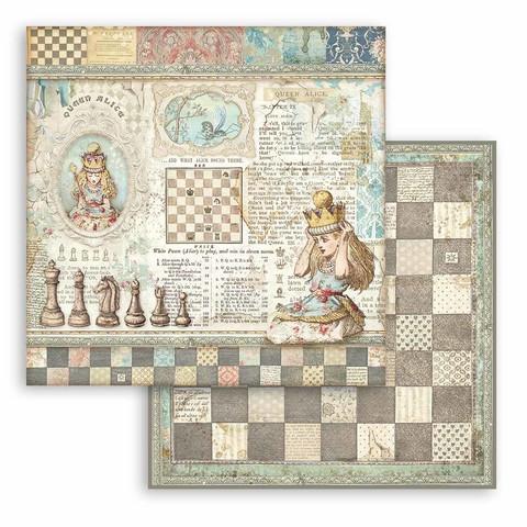 Stamperia Alice skräppipaperi Queen Alice