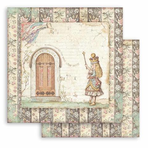Stamperia Alice skräppipaperi Door