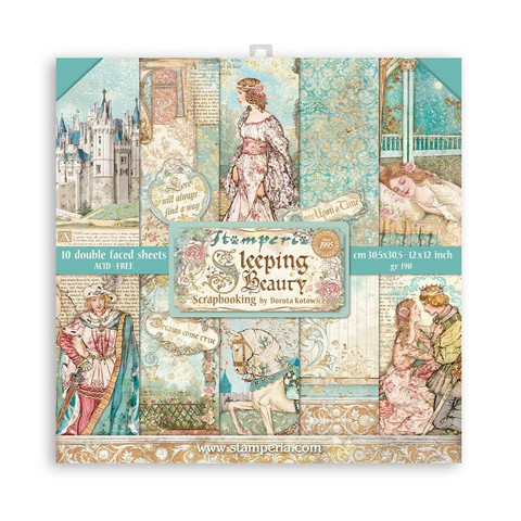 Stamperia paperipakkaus Sleeping Beauty, 12