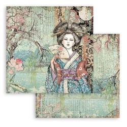 Stamperia Sir Vagabond in Japan skräppipaperi Lady