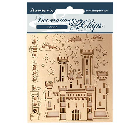 Stamperia Decorative Chips kuvioleikkeet Castle