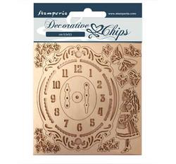 Stamperia Decorative Chips kuvioleikkeet Alice Clock