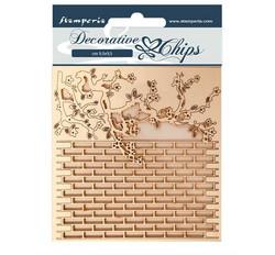 Stamperia Decorative Chips kuvioleikkeet Wall