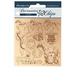 Stamperia Decorative Chips kuvioleikkeet Freedom