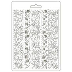Stamperia Passion Alice Borders -muotti (tekstuurilevy)