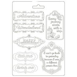Stamperia Soft Mould -muotti Alice in Wonderland Plates, A5