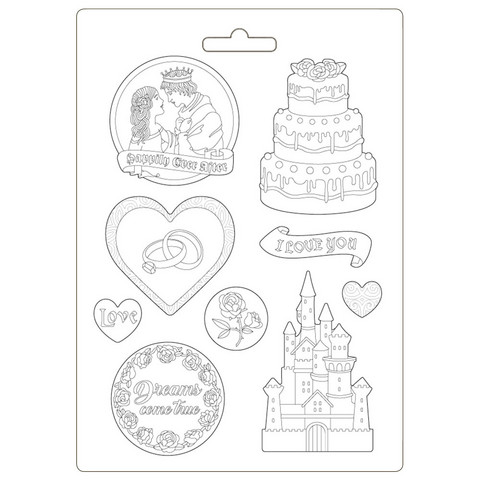 Stamperia Maxi Mould -muotti Sleeping Beauty Castle and Cake