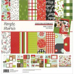 Simple Stories Make It Merry -paperipakkaus, 12