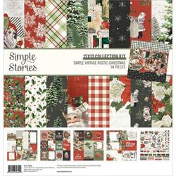 Simple Stories Simple Vintage Rustic Christmas -paperipakkaus, 12