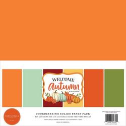 Carta Bella Welcome Autumn, Solids -paperipakkaus, 12