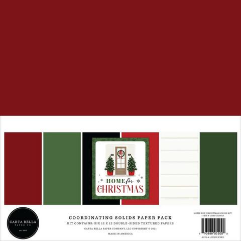 Carta Bella Home For Christmas, Solids -paperipakkaus, 12