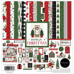 Carta Bella Home For Christmas -paperipakkaus, 12