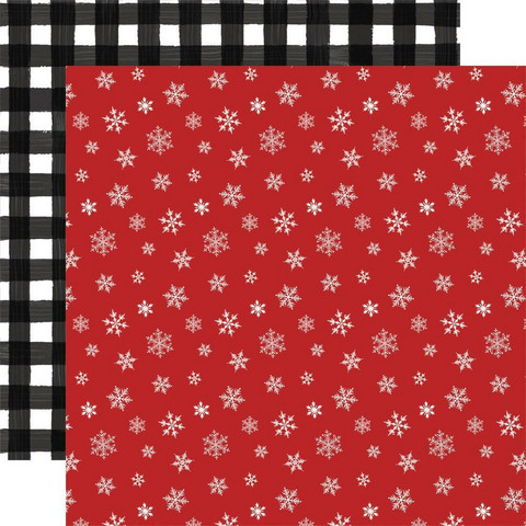 Carta Bella Home For Christmas skräppipaperi Let It Snow
