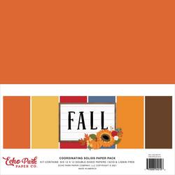 Echo Park Fall, Solids -paperipakkaus, 12