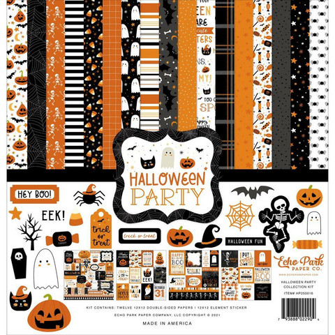 Echo Park Halloween Party -paperipakkaus, 12