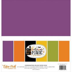 Echo Park Halloween Magic, Solids -paperipakkaus, 12