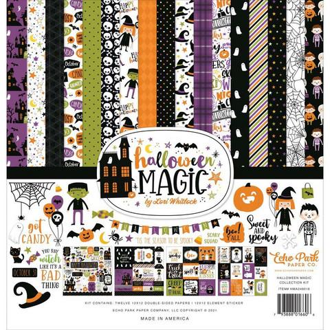 Echo Park Halloween Magic -paperipakkaus, 12