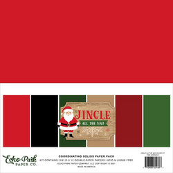 Echo Park Jingle All The Way, Solids -paperipakkaus, 12
