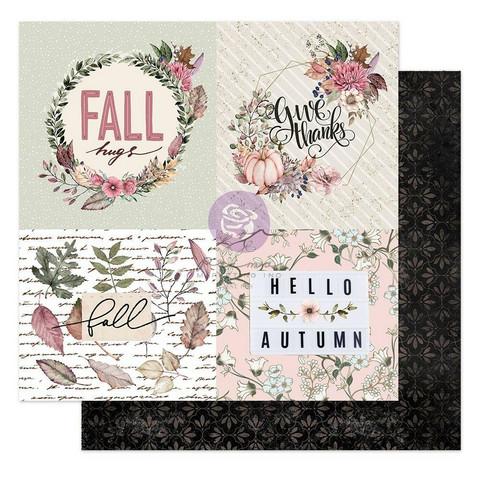 Prima Hello Pink Autumn -skräppipaperi Fall Hugs