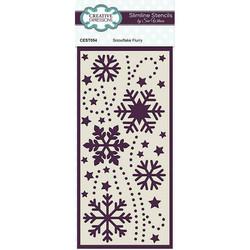 Creative Expressions sapluuna Snowflake Flurry Slimline
