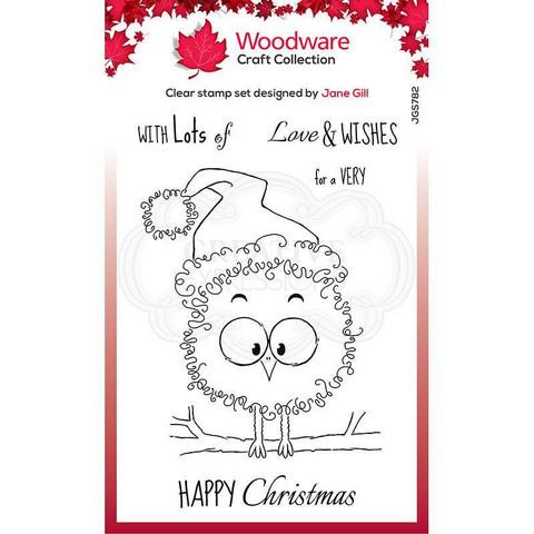 Woodware leimasin Festive Fuzzies, Robin
