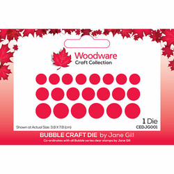 Woodware stanssi Bubble