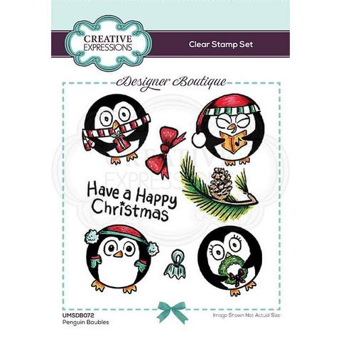 Creative Expressions Penguin Baubles -leimasin
