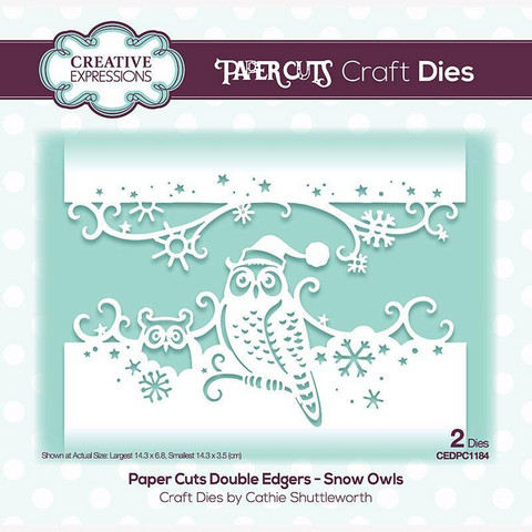 Creative Expressions stanssi Snow Owls Double Edger