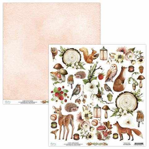 Mintay skräppipaperi Woodland 09