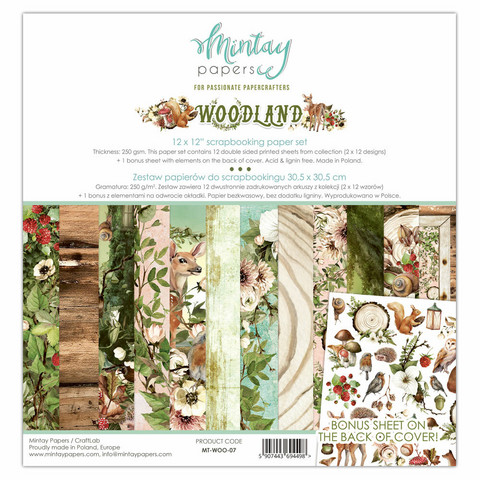 """Mintay paperipakkaus Woodland 12"""" x 12"""""""
