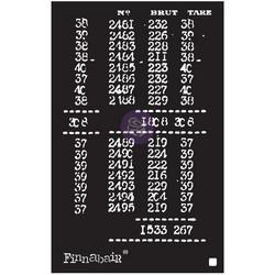 Finnabair sapluuna Book Of Numbers