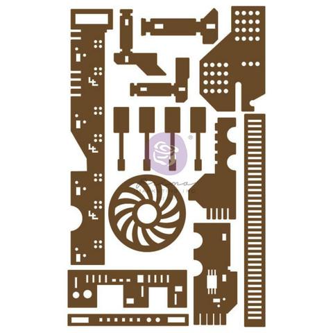 Prima Decorative Chipboard kuvioleike, All The Parts