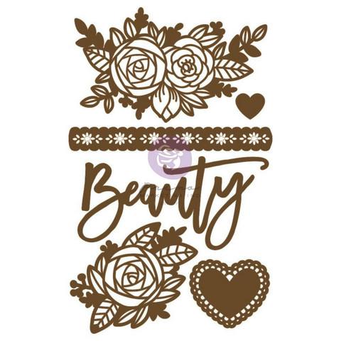 Prima Decorative Chipboard kuvioleike, Beauty Arises
