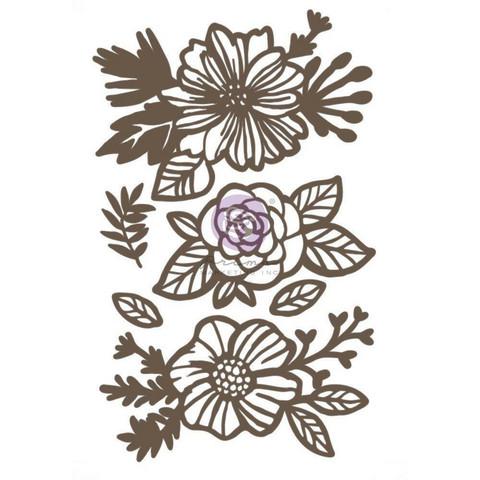 Prima Decorative Chipboard kuvioleike, Happy Flowers