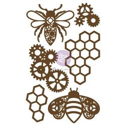 Prima Decorative Chipboard kuvioleike, Powerful Bees