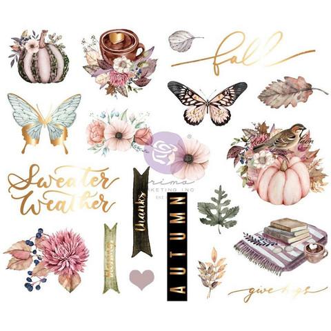 Prima Hello Pink Autumn -Chipboard tarrat