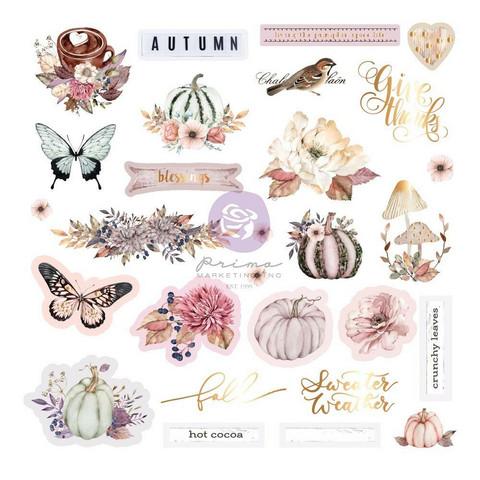Prima Hello Pink Autumn Ephemera die-cuts, leikekuvat