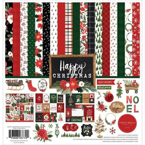 Carta Bella Happy Christmas -paperipakkaus, 12