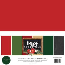 Carta Bella Happy Christmas, Solids -paperipakkaus, 12