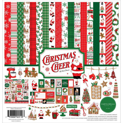 Carta Bella Christmas Cheer -paperipakkaus, 12
