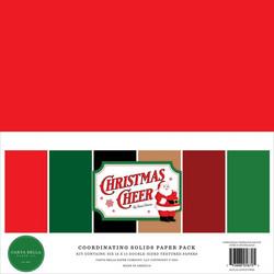 Carta Bella Christmas Cheer, Solids -paperipakkaus, 12