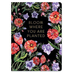 Paper House Black Floral Softcover Journal -muistikirja