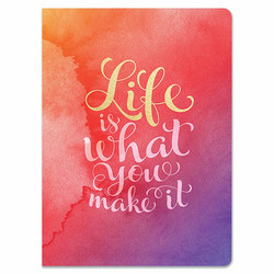 Paper House Life is What You Make It Softcover Journal -muistikirja