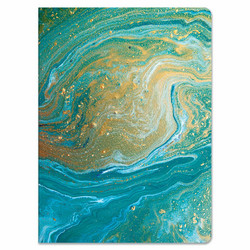 Paper House Teal Marble Softcover Journal -muistikirja