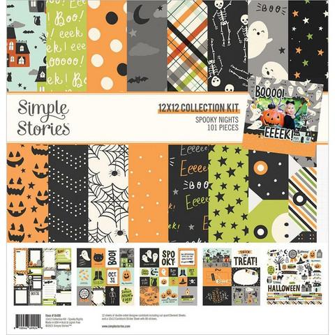 Simple Stories Spooky Nights -paperipakkaus, 12