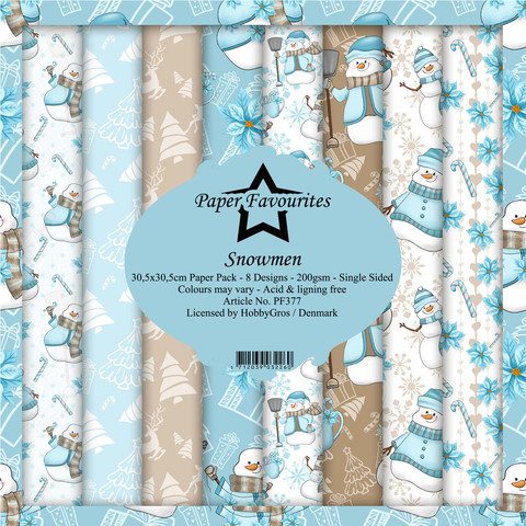 Paper Favourites Snowmen -paperipakkaus, 12
