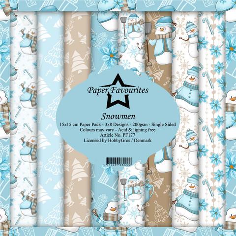 Paper Favourites Snowmen -paperipakkaus