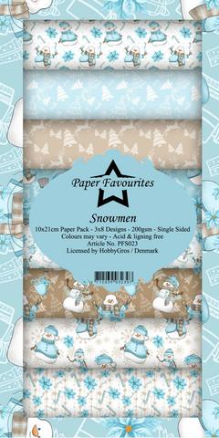 Paper Favourites Snowmen -paperipakkaus, Slim Line